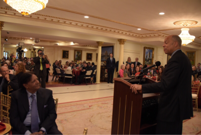 Secretary Johnson addresses participants and guests at Iftar