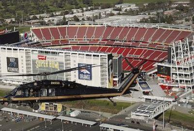 CBP Patrols Airspace at the Site of Super Bowl 50