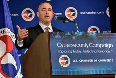 Deputy Secretary Mayorkas delivers remarks on the Department's cybersecurity efforts at the 4th Annual Cybersecurity Summit hosted by the U.S. Chamber of Commerce