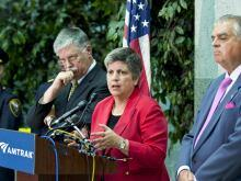 This morning, Secretary Napolitano joined Secretary of Transportation and Amtrak President and CEO Joseph Boardman to annouce a new partnership.