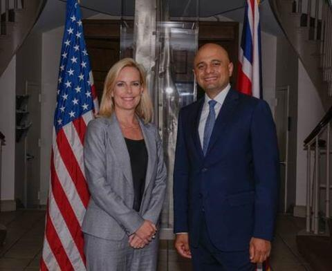 Secretary Nielsen with UK Home Secretary Javid