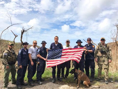 St. Croix, U.S. Virgin Islands, September 23, 2017 — Virginia Task Force 1 was on the scene in St. Croix to conduct a wide range of reconnaissance operations following hurricanes Irma and Maria. Virginia Task Force 1 is a team of emergency managers and planners, physicians and paramedics and includes specialists in structural engineering, heavy rigging, collapse rescue, logistics, hazardous materials, communications, canine and technical search. Photo/Virginia Task Force 1.