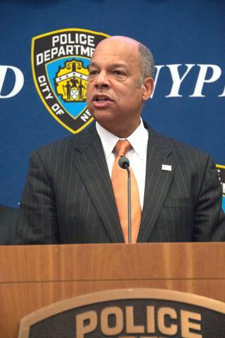 At NYPD Headquarters in New York City, Secretary of Homeland Security Jeh Johnson announced that more than $1.6 billion will be available to help communities and first responders prevent terrorism and secure our transportation systems, ports and borders through the nine FY 2015 DHS preparedness grant programs.