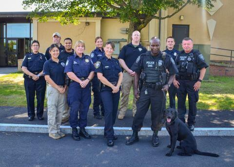 FPS brought together law enforcement agencies from around the New England area to learn about tactical canine first aid.  DHS was well-represented, with participants from FPS, TSA, CBP, and U.S. Border Patrol.