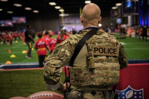 The Super Bowl is one of the focal points of ICE HSI Special Response Team (SRT) security efforts. HSI SRT members had a visible presence throughout Super Bowl week leading up to the game. (ICE Official Photo)