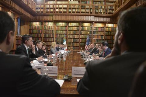 U.S. Secretary of Homeland Security Kirstjen Nielsen participated in a meeting with Mexico Secretary of Interior Alfonso Navarrete Prida in Mexico City, Mexico, March 26, 2018.