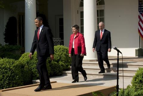 Secretary Walks into Ceremony at the Rose Garden (HQ)