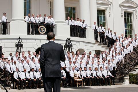 The President Addresses Uniformed Division Officers