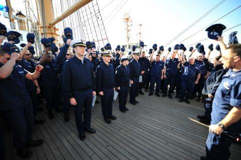 Coast Guard Lieutenants Recognized During Muster (USCG)