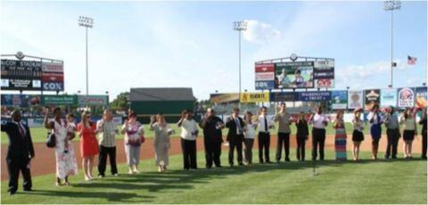 Naturalization Ceremony at McCoy Stadium