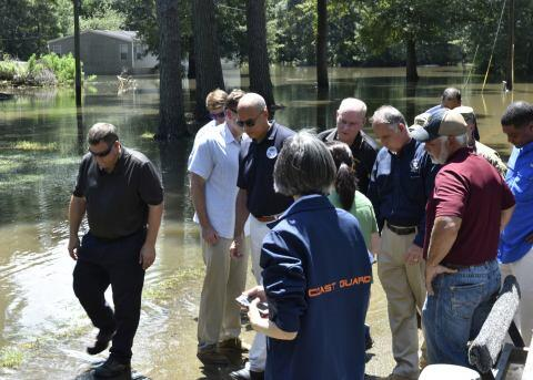 Secretary Johnson continues tour of Ascension