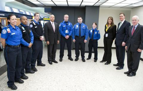 Secretary Johnson joined TSA Administrator Pistole to announce the opening of a new TSA Pre✓™ application center at Dulles