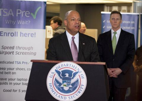 Secretary Johnson speaks at Dulles Airport's TSA Pre✓™ application center opening