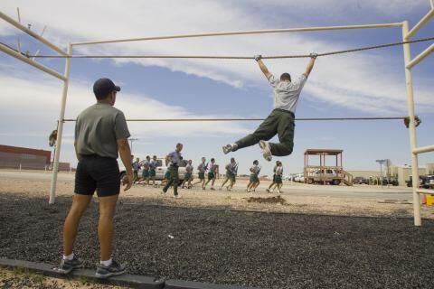 Training at the National Border Patrol Academy.