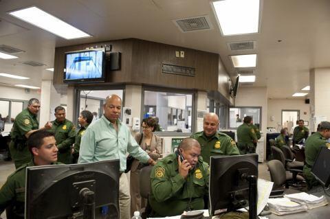 Secretary Jeh Johnson Visits Texas