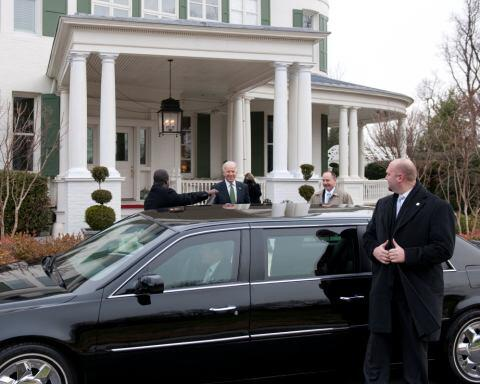 VPOTUS in front of his home