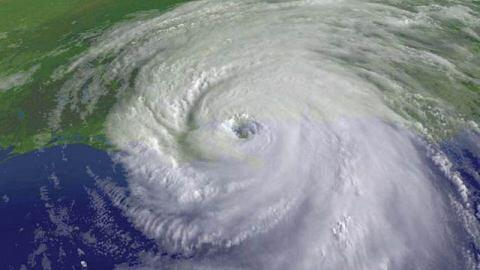 Satellite photo of Hurricane Katrina