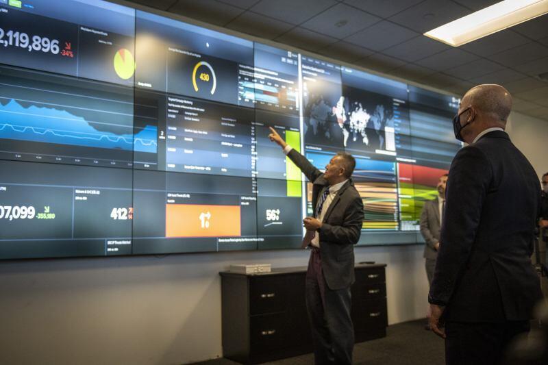 Secretary Mayorkas Visits LA Cyber Lab