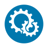 SBIR Logo with two connected gears