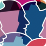 Colorful head silhouettes