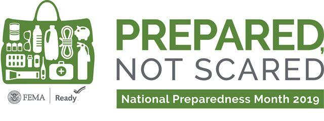 Prepared, Not Scared - National Preparedness Month 2019 - FEMA - Ready.gov