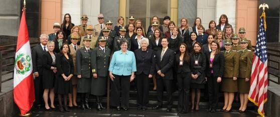 Attendees at the Women in Leadership Training in Lima, Peru.