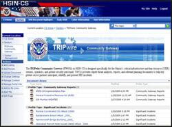 TRIPwire Community Gateway Homepage