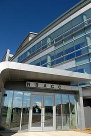 Close up photo of the NBACC facility.
