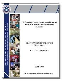 image of NBAF DEIS report cover