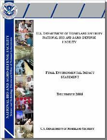 image of NBAF FEIS report cover