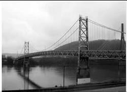The Ft. Steuben Bridge, built in 1929, in Steubenville, Ohio.