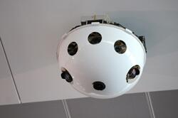 The Imaging System for Immersive Surveillance (or ISIS) bolted on the ceiling.