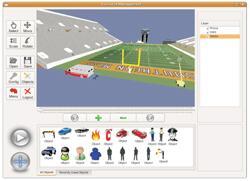 Screenshot of SportEvac simulation and training software